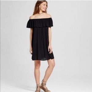 Mossimo Off Shoulder Black Dress